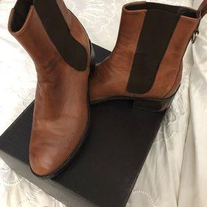 Cole haan cognag leather booties